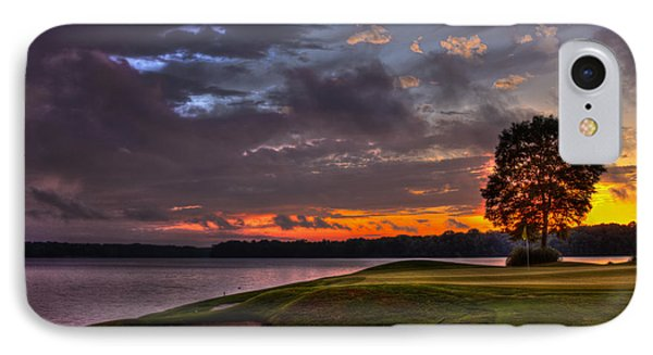 Perfect Golf Sunset In Reynolds Plantation IPhone Case by Reid Callaway