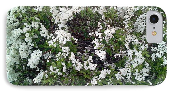 Perfect White Spring Blossoms Phone Case by PainterArtist FIN