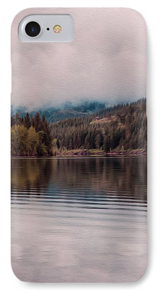 Perfectly Cloudy Lake Phone Case by Omaste Witkowski