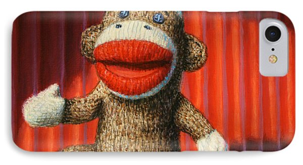 Performing Sock Monkey IPhone Case