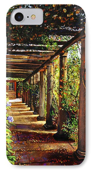 Pergola Walkway Phone Case by David Lloyd Glover