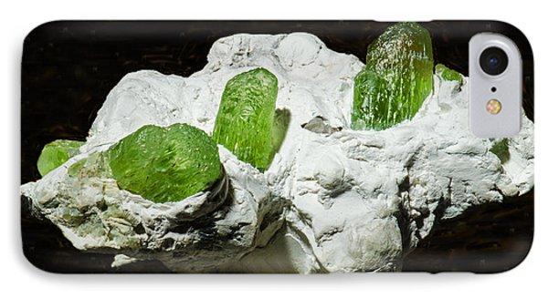 Peridot Crystals Phone Case by Millard H. Sharp