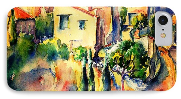 Perillos Abandoned French Village    IPhone Case by Trudi Doyle