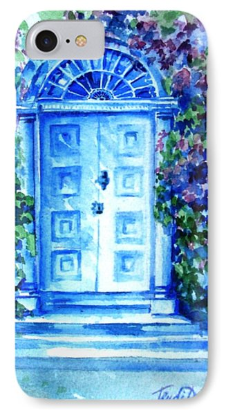 IPhone Case featuring the painting Period Doorway Altamont Gardens by Trudi Doyle
