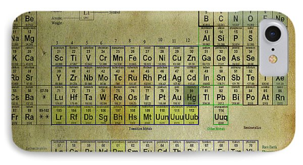 IPhone Case featuring the mixed media Periodic Table Of Elements by Brian Reaves