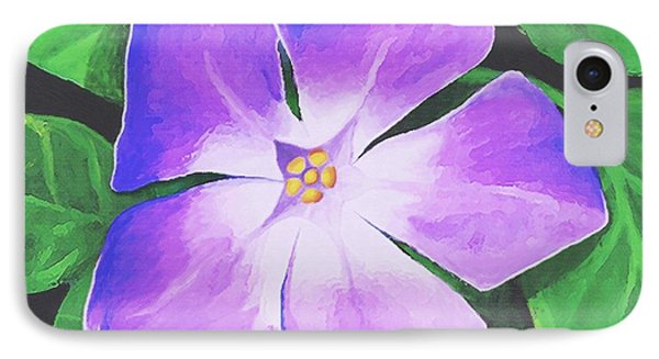 IPhone Case featuring the painting Periwinkle by Sophia Schmierer