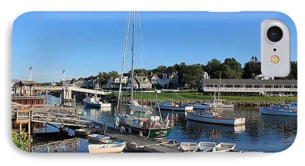 Perkins Cove Ogunquit Maine 2 IPhone Case by Michael Saunders