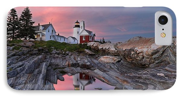 Permaquid Lighthouse IPhone Case by Daniel Behm
