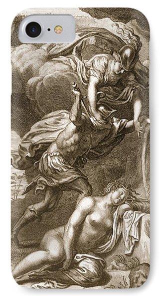 Perseus Cuts Off Medusas Head, 1731 IPhone Case by Bernard Picart