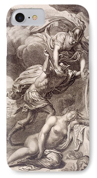 Perseus Cuts Off Medusa's Head IPhone Case by Bernard Picart