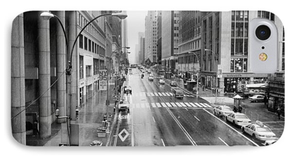 IPhone 7 Case featuring the photograph Pershing View 42nd Street Nyc by Dave Beckerman