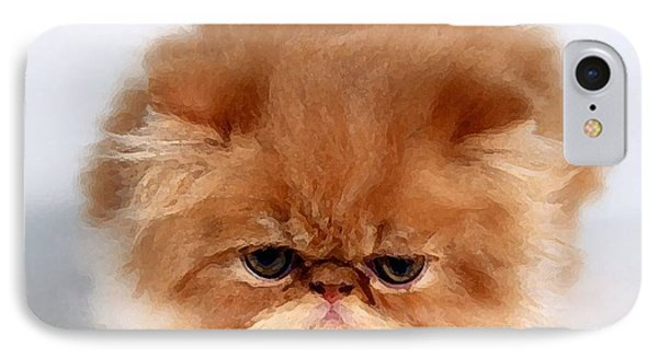 Persian Kitten Painting IPhone Case by Marvin Blaine