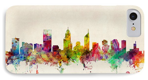 Perth Australia Skyline IPhone Case by Michael Tompsett