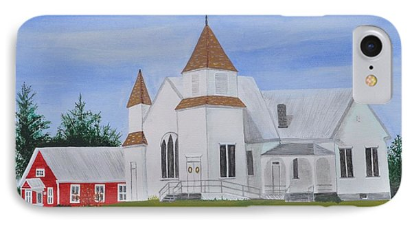 Peru Congregational Church Phone Case by Sally Rice