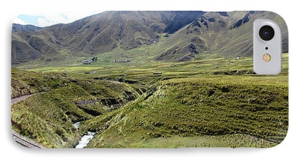 Peru Mountain Pass Rail Road IPhone Case by Ted Pollard