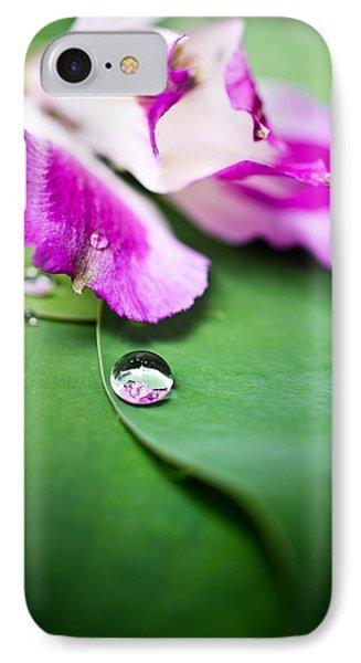 Peruvian Lily Raindrop Phone Case by Priya Ghose