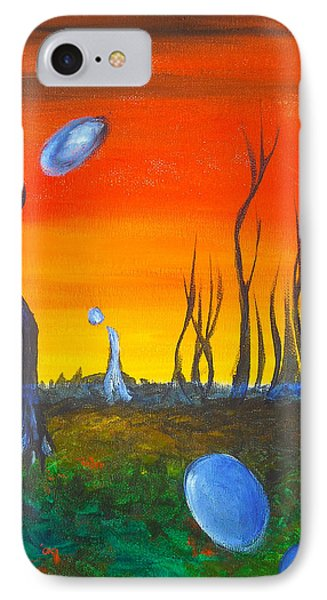 IPhone Case featuring the painting Pervasive Longings by Christophe Ennis