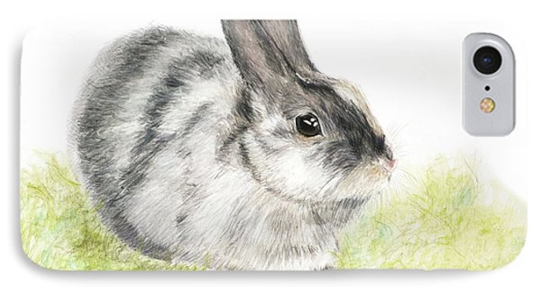Pet Rabbit Gray Pastel IPhone Case by Kate Sumners