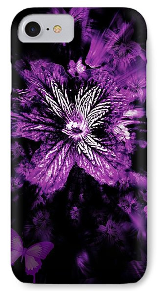 Petals From The Purple Phone Case by Amanda Eberly-Kudamik