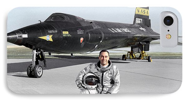 Pete Knight As X-15 Test Pilot IPhone Case by Nasa