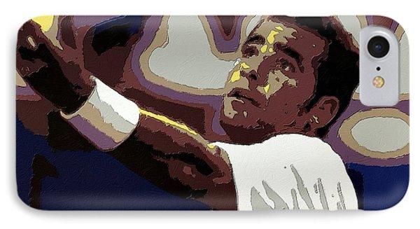 Pete Sampras Poster Art IPhone Case by Florian Rodarte
