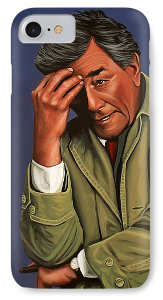 Peter Falk As Columbo IPhone Case by Paul Meijering