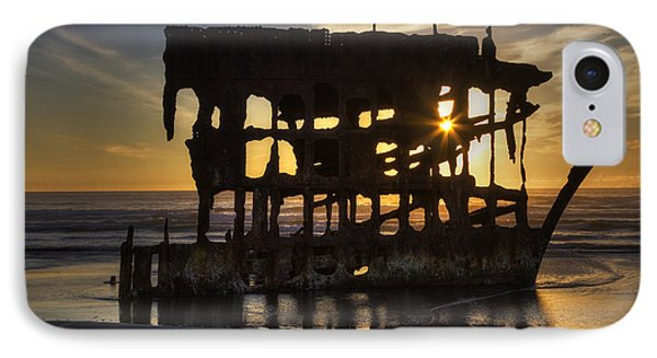 Peter Iredale Shipwreck Sunset Phone Case by Mark Kiver