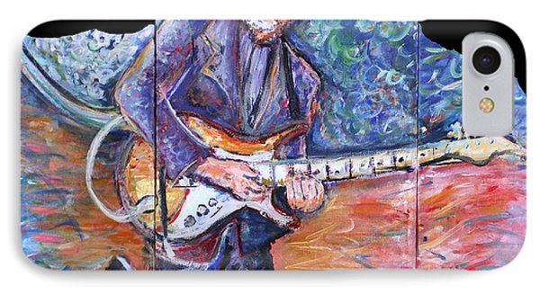 Peter Parcek Plays The Blues IPhone Case by Jason Gluskin