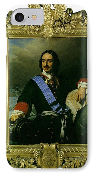Peter The Great Of Russia Phone Case by Paul  Delaroche