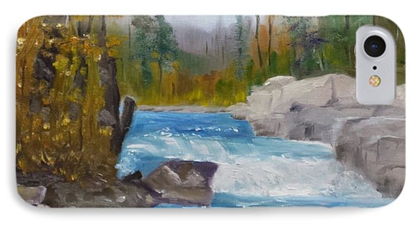 Peterborough Falls IPhone Case by Larry Hamilton
