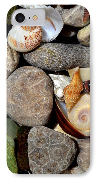 Petoskey Stones Ll Phone Case by Michelle Calkins