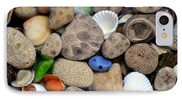 Petoskey Stones Lll Phone Case by Michelle Calkins