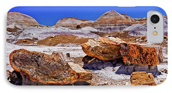 IPhone Case featuring the photograph Petrified Forest - Painted Desert by Bob and Nadine Johnston