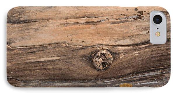 Petrified Wood Detail Phone Case by Vivian Christopher