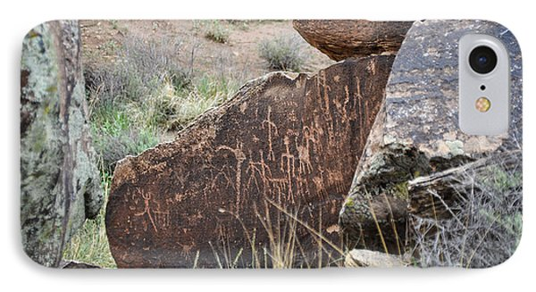 IPhone Case featuring the photograph Petroglyph Art by Cheryl McClure