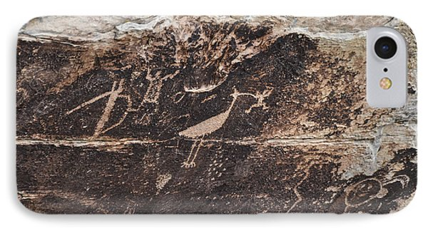IPhone Case featuring the photograph Petroglyph Bird by Cheryl McClure
