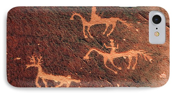 Petroglyph, Canyon De Chelly National IPhone Case by Michel Hersen