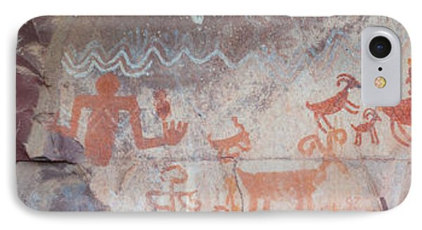 Petroglyphs On Rock, Palatki Ruins IPhone Case by Panoramic Images