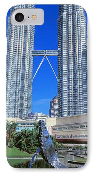Petronas Towers Kuala Lumpur Malaysia IPhone Case by Panoramic Images