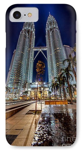 Petronas Twin Towers Phone Case by Adrian Evans