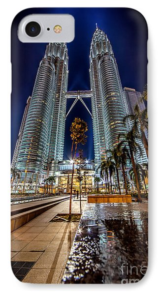 Petronas Twin Towers IPhone Case by Adrian Evans