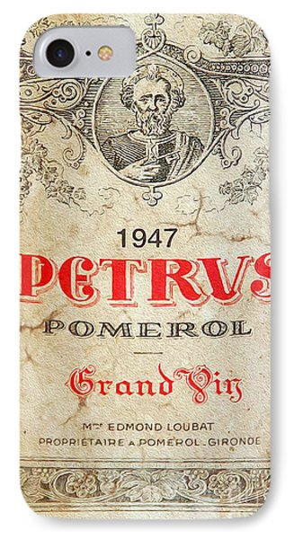 Petrus Wine  IPhone Case by Jon Neidert