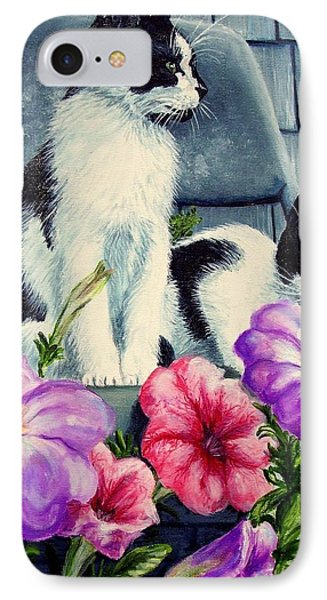 Petunia Kittens IPhone Case by Ruanna Sion Shadd a'Dann'l Yoder