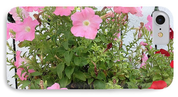 IPhone Case featuring the photograph Petunia Picket Fence by Peg Toliver