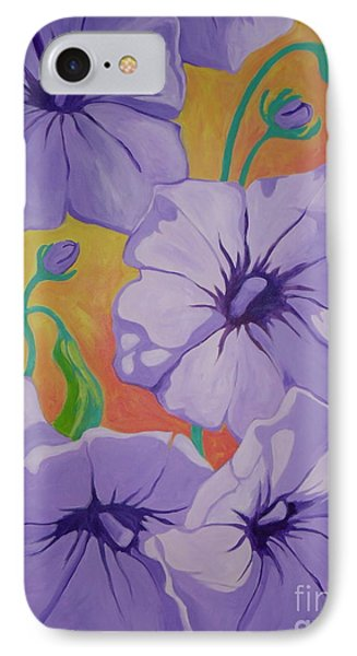 Petunias Phone Case by Sandra Yuen MacKay