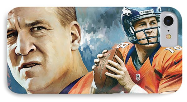 Peyton Manning Artwork IPhone Case by Sheraz A