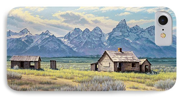 Pfeiffer Homestead-tetons IPhone Case by Paul Krapf