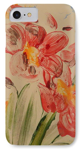 Phalaenopsis In Pink Phone Case by Valerie Lynch