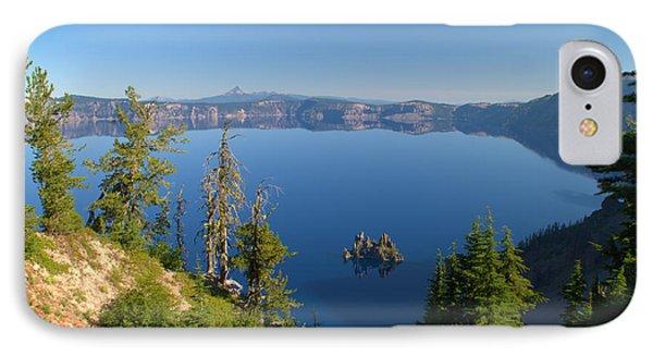 Phantom Ship Island In Crater Lake Phone Case by Brian Harig