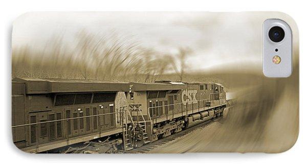 Phantom Train IPhone Case by Betsy Knapp